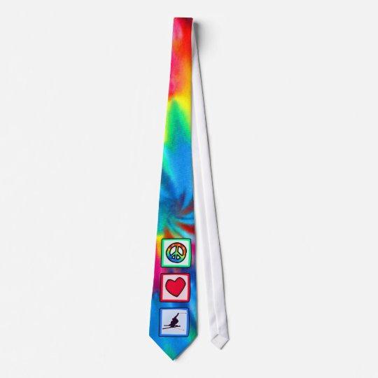 Peace, Love, Snow Skiing Tie