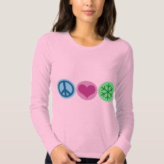 Peace Love Snow T Shirt
