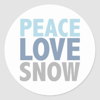 Peace Love Snow Tees Gifts Classic Round Sticker