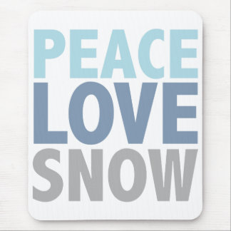 Peace Love Snow Tees Gifts Mouse Pad