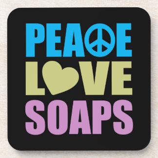 Peace Love Soaps Coasters