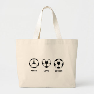 Peace Love Soccer Tote Bags