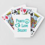 Peace Love Soccer Bicycle Card Decks