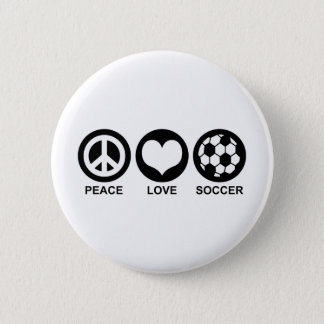 Peace Love Soccer Button