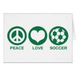 Peace Love Soccer Card