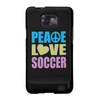Peace Love Soccer Galaxy S2 Cover