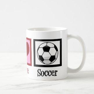 Peace Love Soccer Classic White Coffee Mug