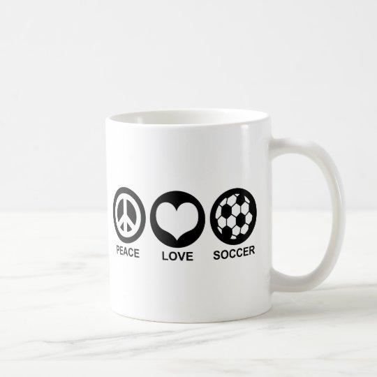 Peace Love Soccer Coffee Mug