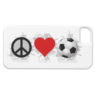Peace Love Soccer  Emblem iPhone 5 Case