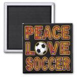 PEACE LOVE SOCCER FRIDGE MAGNETS