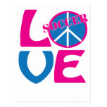 Peace, Love, Soccer Gifts and Apparel for Women Post Cards