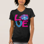 Peace, Love, Soccer Gifts and Apparel for Women Tee Shirts