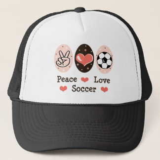 Peace Love Soccer Hat