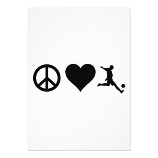 Peace Love Soccer Invitations