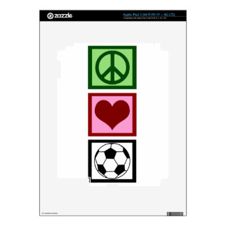 Peace Love Soccer iPad 3 Decals