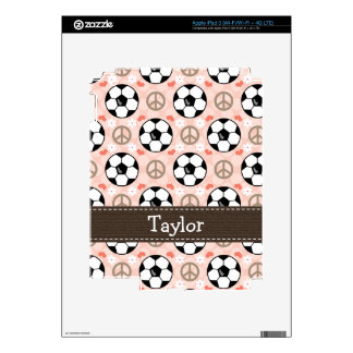 Peace Love Soccer iPad 3 Skin