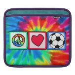 Peace, Love, Soccer iPad Sleeves