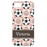 Peace Love Soccer iPhone 5 Cover