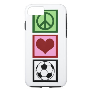 Peace Love Soccer iPhone 7 Case