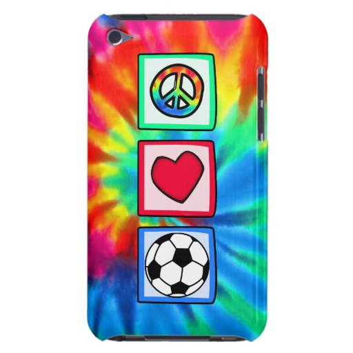Peace, Love, Soccer iPod Touch Case-Mate Case