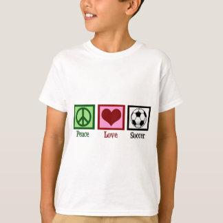 Peace Love Soccer Kids T-Shirt