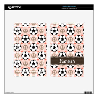 Peace Love Soccer Kindle Fire Skin