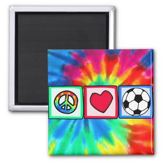 Peace, Love, Soccer Magnet