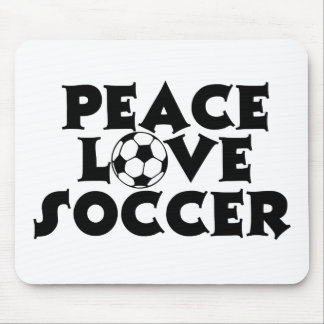 Peace, Love, Soccer Mouse Pad