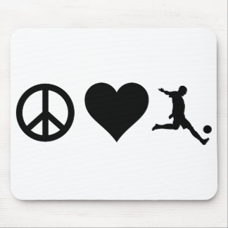 Peace Love Soccer Mouse Pad