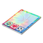Peace, Love, Soccer Note Pad