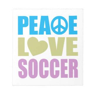 Peace Love Soccer Memo Note Pad