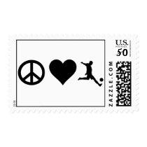 Peace Love Soccer Postage