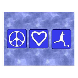 Peace Love Soccer Postcard