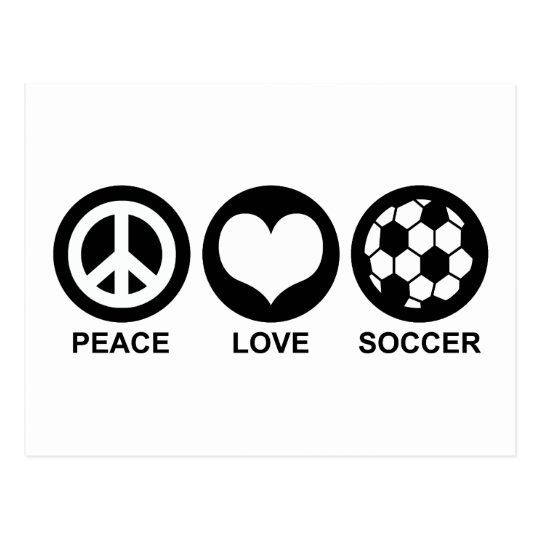 Peace Love Soccer Postcard