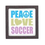 Peace Love Soccer Premium Trinket Box