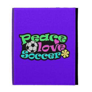 Peace, Love, Soccer; Retro iPad Folio Cover