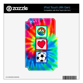 Peace, Love, Soccer Skin For iPod Touch 4G