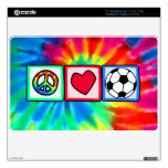 Peace, Love, Soccer Skins For MacBook