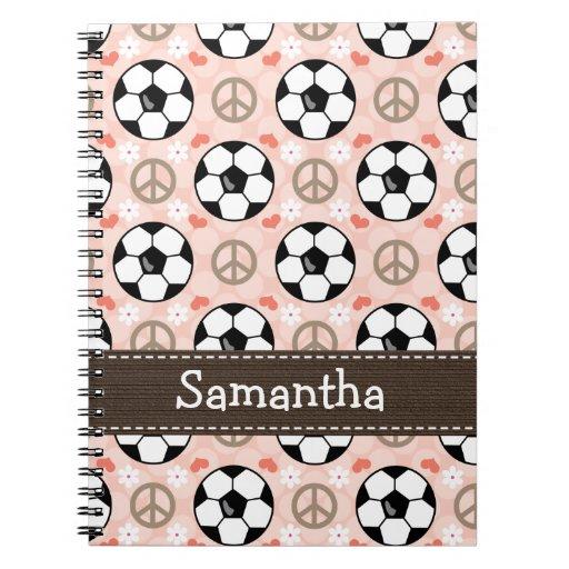Peace Love Soccer Spiral Notebook Journal