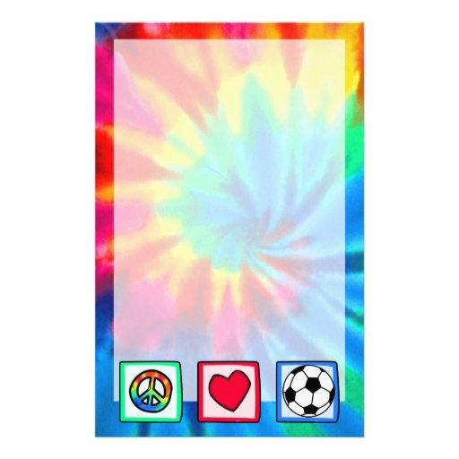 Peace, Love, Soccer Stationery