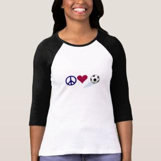 Peace - Love - Soccer T Shirt