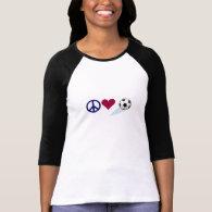 Peace - Love - Soccer T-Shirt