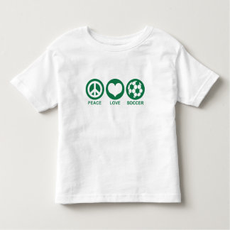 Peace Love Soccer T Shirt