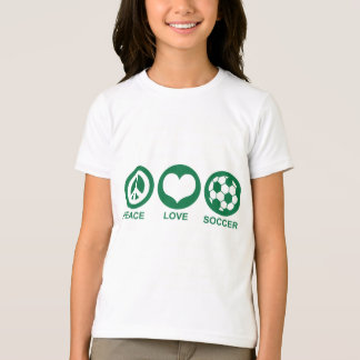 Peace Love Soccer T-Shirt