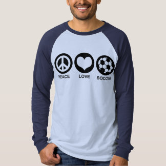 Peace Love Soccer Tee Shirt
