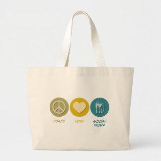 Peace Love Social Work Bag