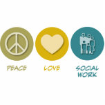 Peace Love Social Work Photo Cut Outs