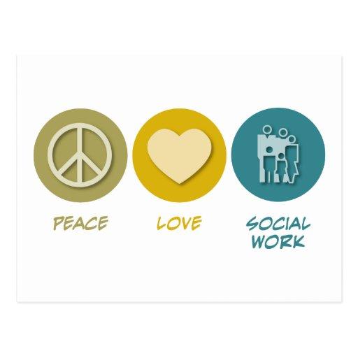 Peace Love Social Work Post Card