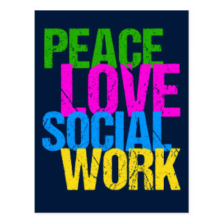 Peace Love Social Work Postcard
