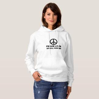 Peace Love Social Worker Social Work Gift Ideas Hoodie